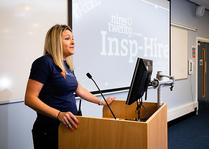 Karen Stewart from Nine Twenty speaks to the audience